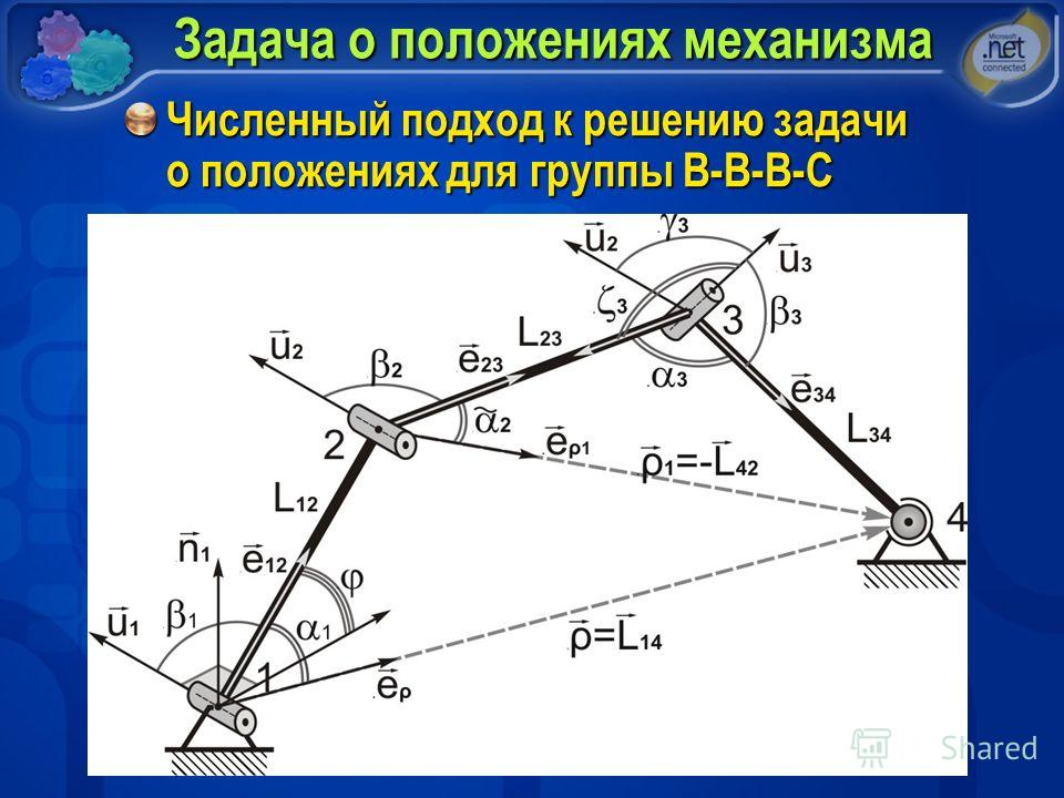 Задача о положениях механизма Численный подход к решению задачи о положениях для группы В-В-В-С