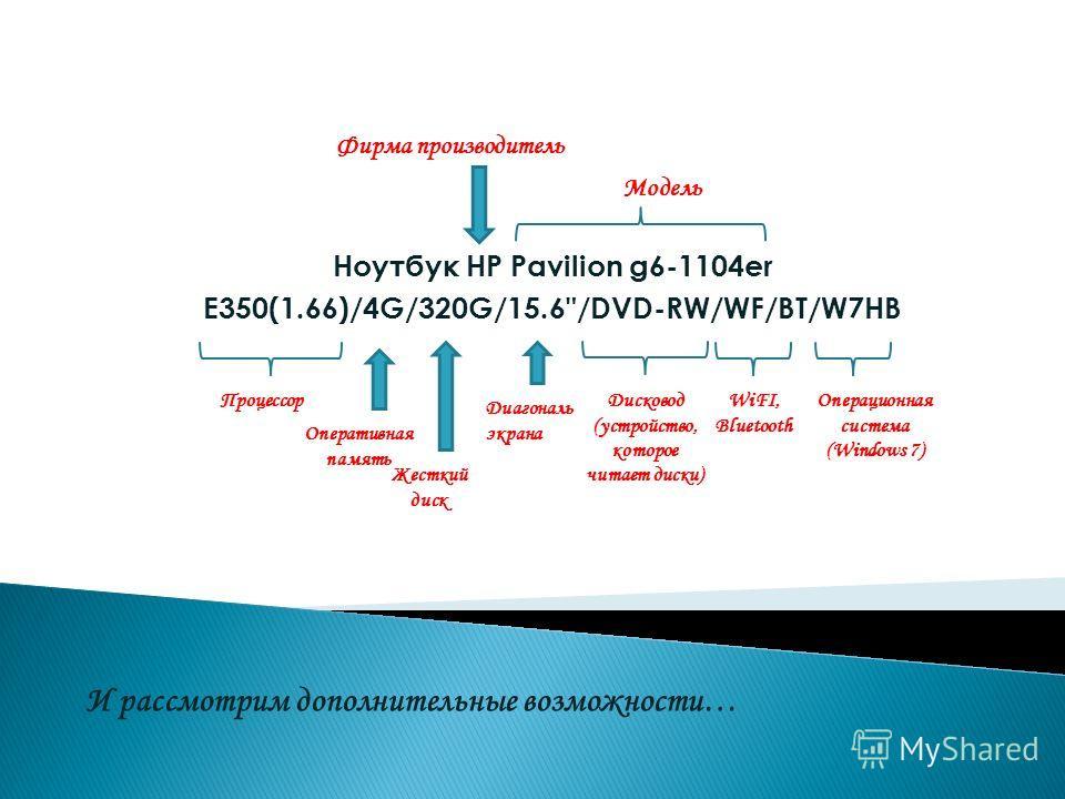 Ноутбук HP Pavilion g6-1104er E350(1.66)/4G/320G/15.6