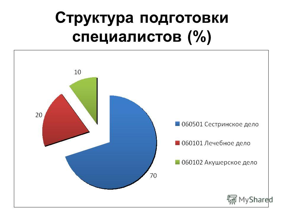 Структура подготовки специалистов (%)