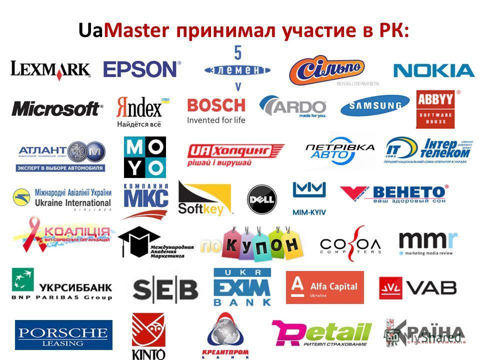UaMaster принимал участие в РК: