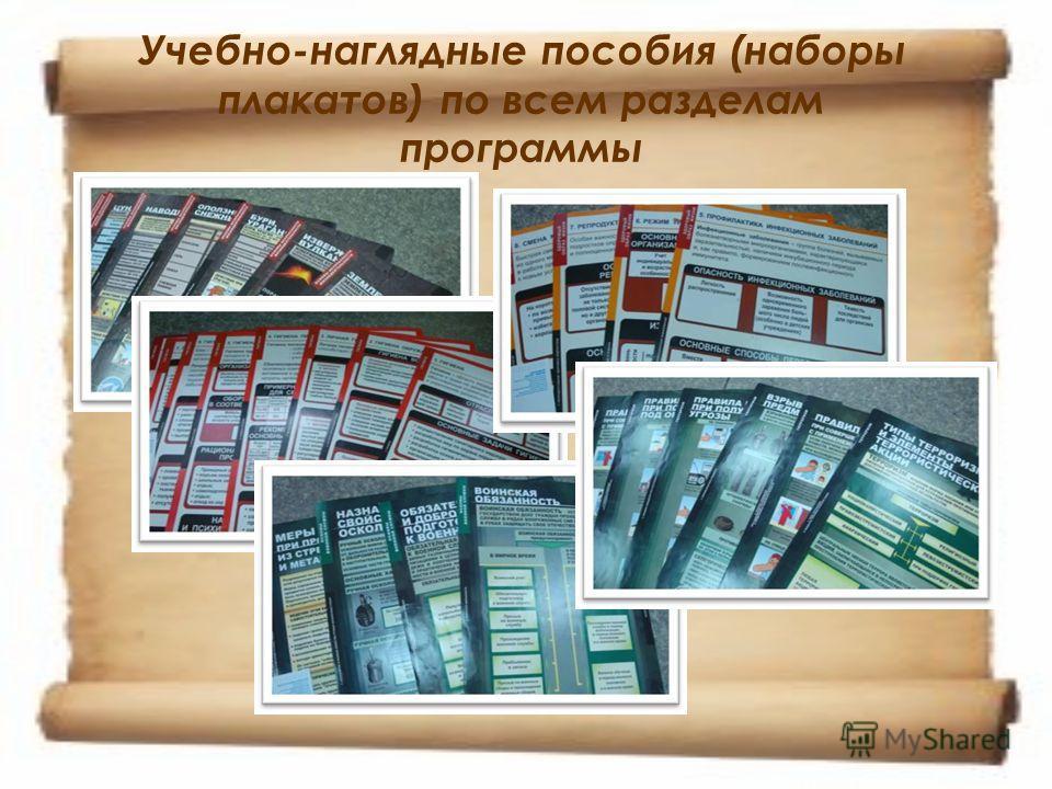 Учебно-наглядные пособия (наборы плакатов) по всем разделам программы