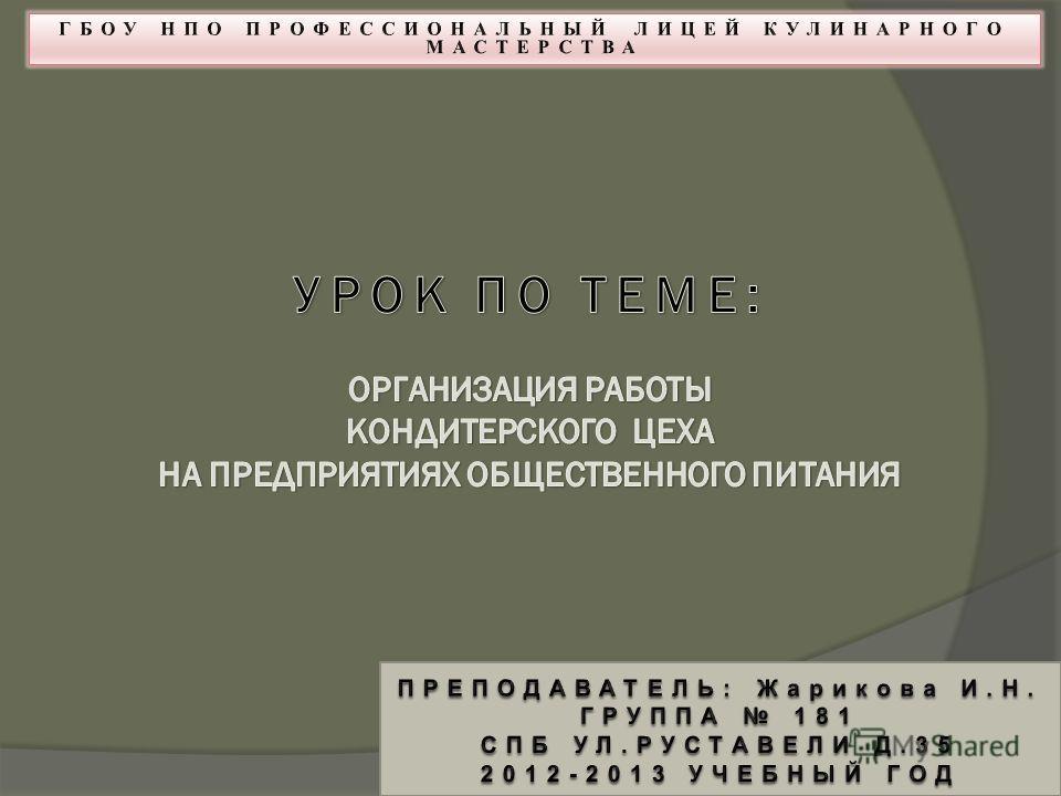 Презентация организация работы кондитерского цеха скачать