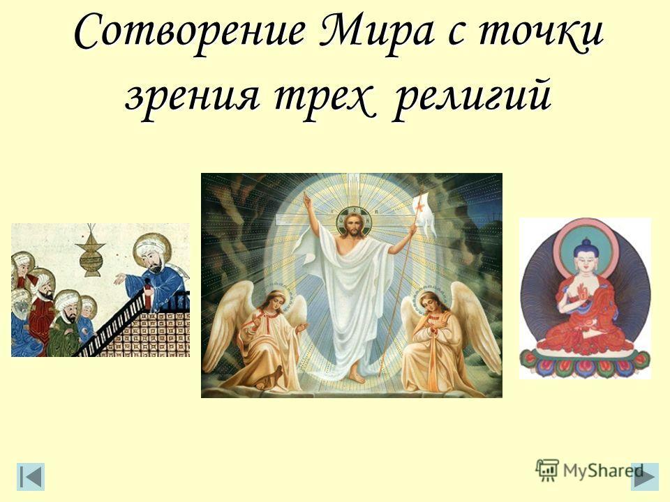 Сотворение Мира с точки зрения трех религий