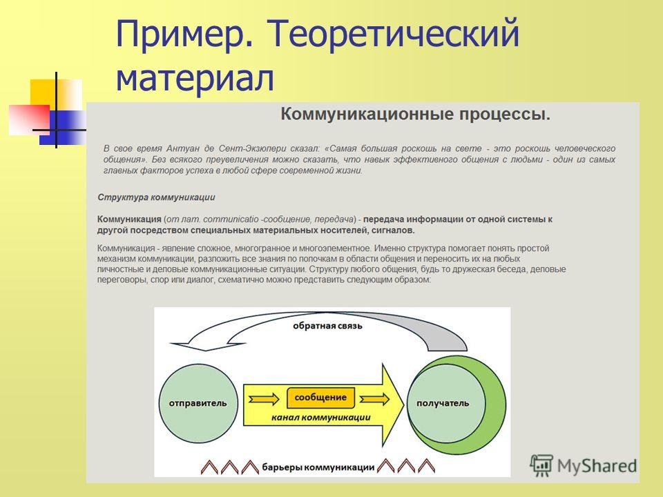 Пример. Теоретический материал