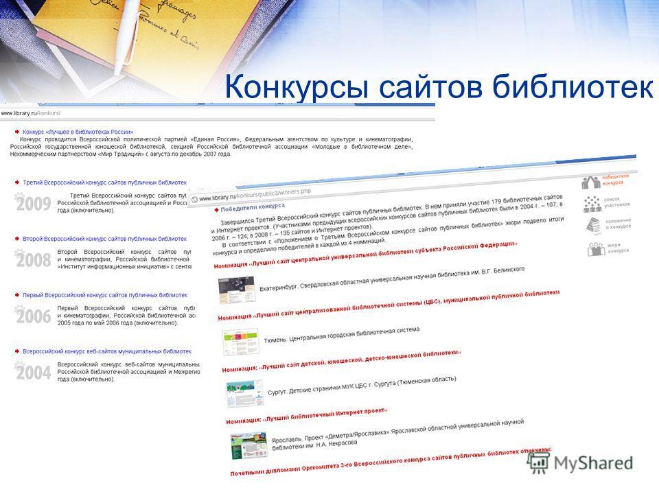 Конкурсы сайтов библиотек