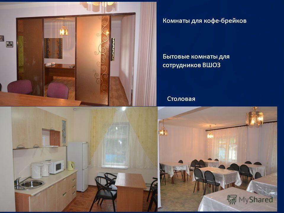 Комнаты для кофе-брейков Бытовые комнаты для сотрудников ВШОЗ Столовая