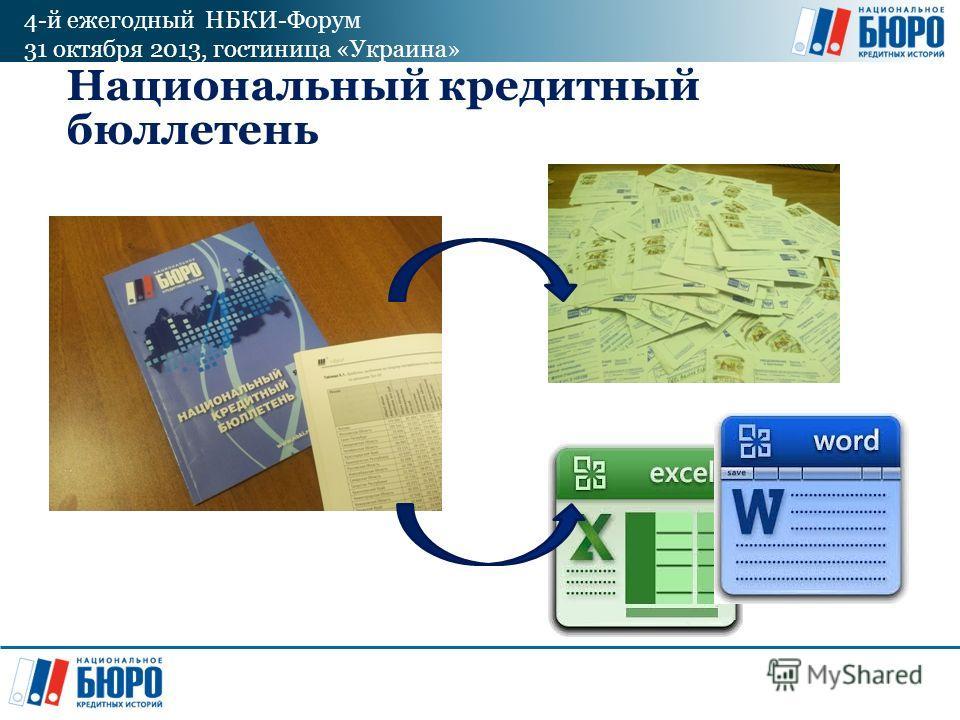 4-й ежегодный НБКИ-Форум 31 октября 2013, гостиница «Украина» Национальный кредитный бюллетень