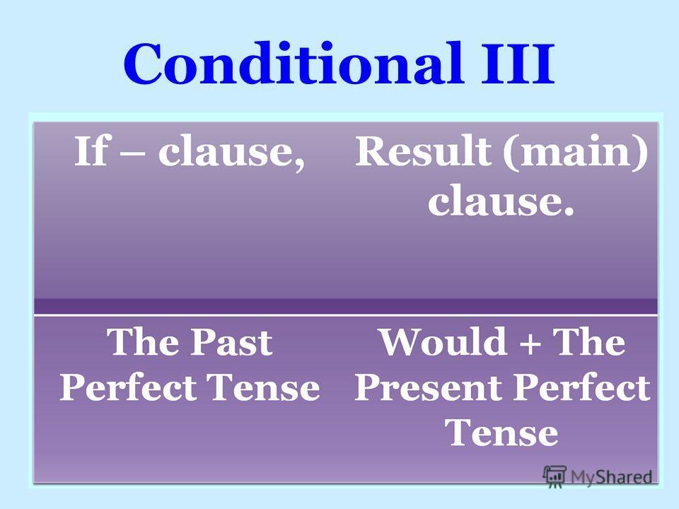 Conditional III