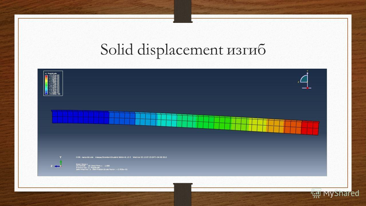 Solid displacement изгиб