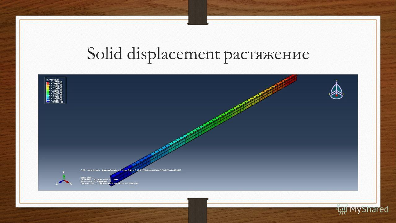 Solid displacement растяжение