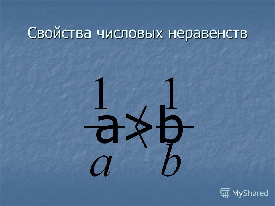 Свойства числовых неравенств -ab