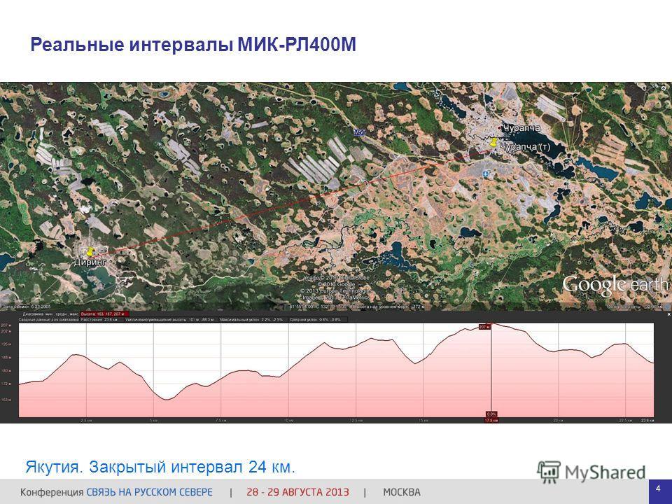 Реальные интервалы МИК-РЛ400М Якутия. Закрытый интервал 24 км. 4