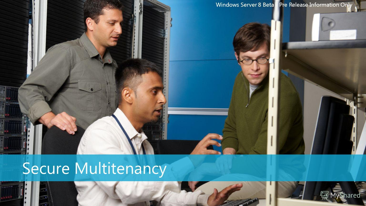 Windows Server 8 Beta - Pre Release Information Only Secure Multitenancy