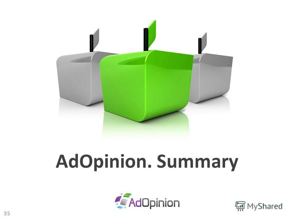 35 AdOpinion. Summary