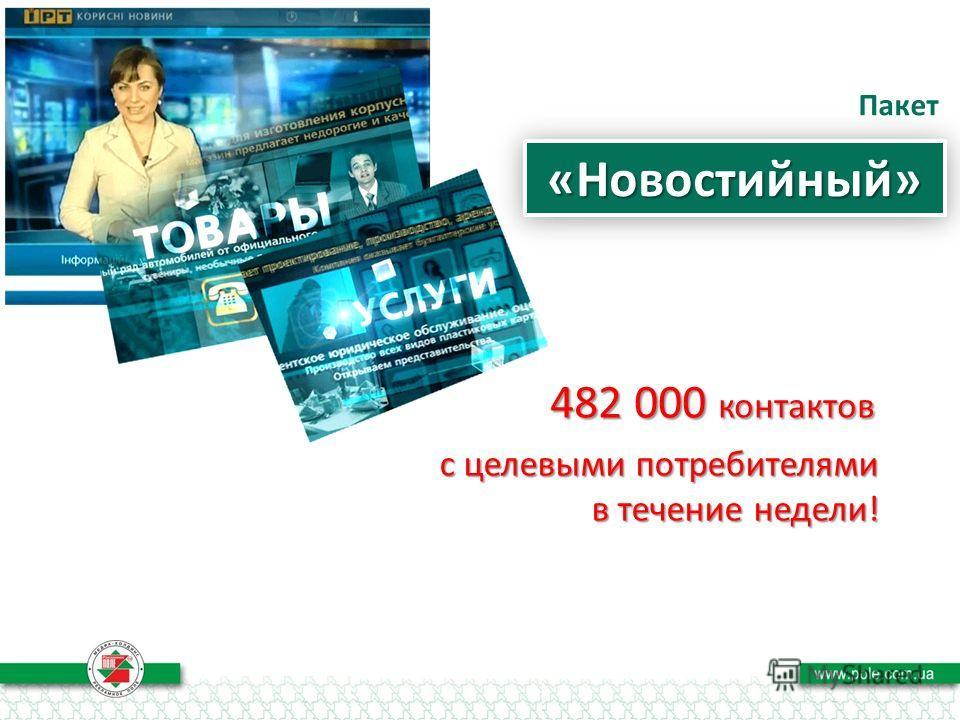 Пакет «Новостийный»«Новостийный» с целевыми потребителями в течение недели!