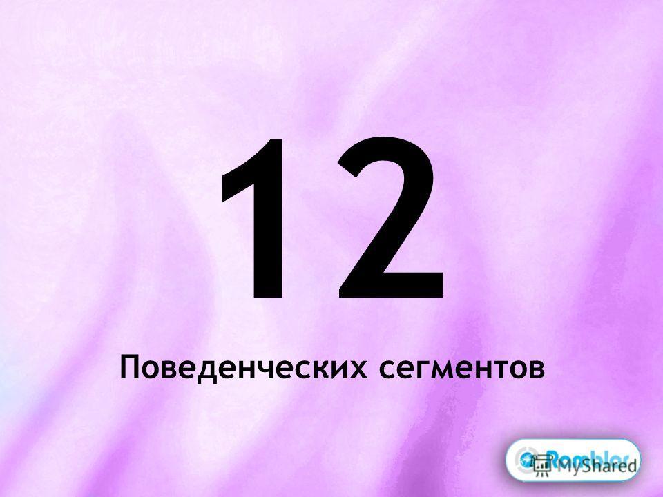12 Поведенческих сегментов