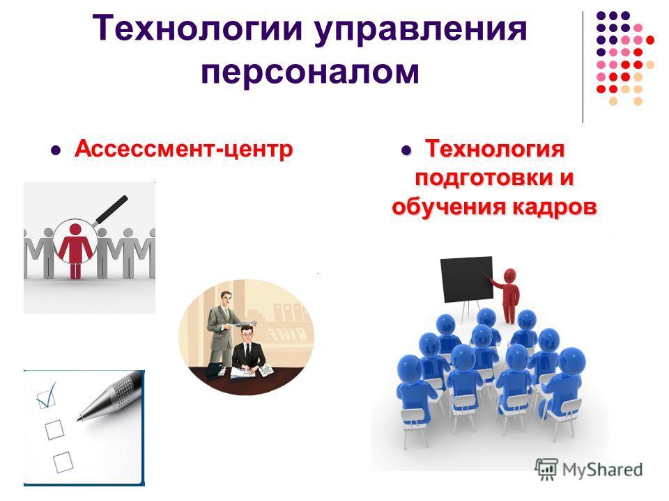 Технологии управления персоналом Технология подготовки и обучения кадров Технология подготовки и обучения кадров Ассессмент-центр