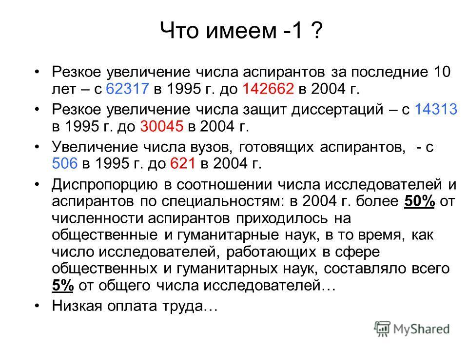 Презентация на тему Реформа аспирантуры и кадровой системы науки  2 Что