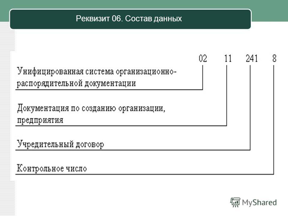 Реквизит 06. Состав данных