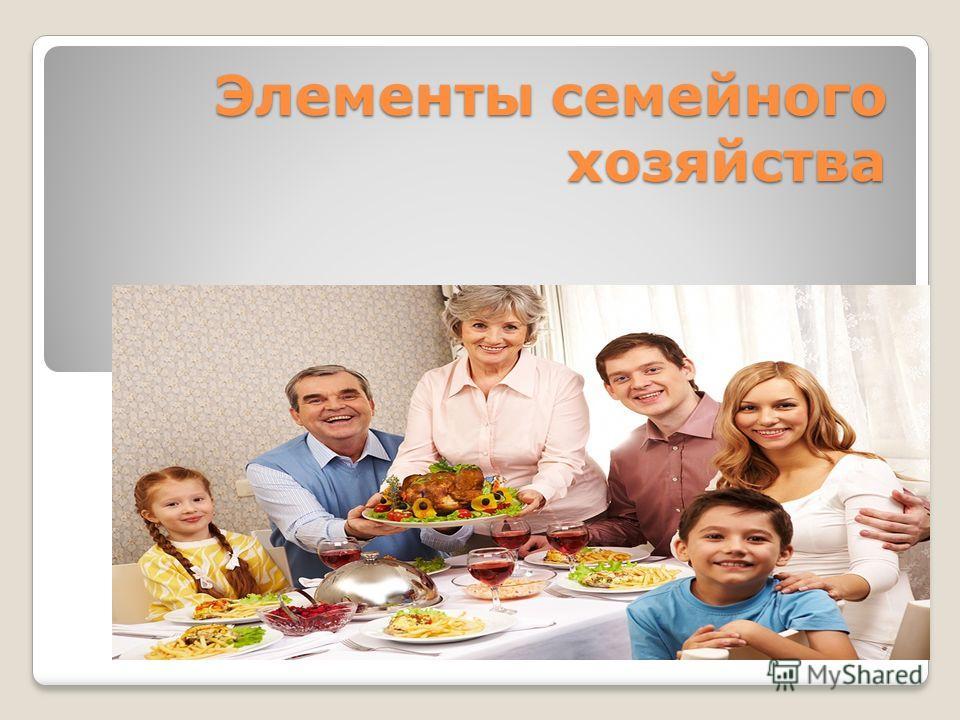 Элементы семейного хозяйства