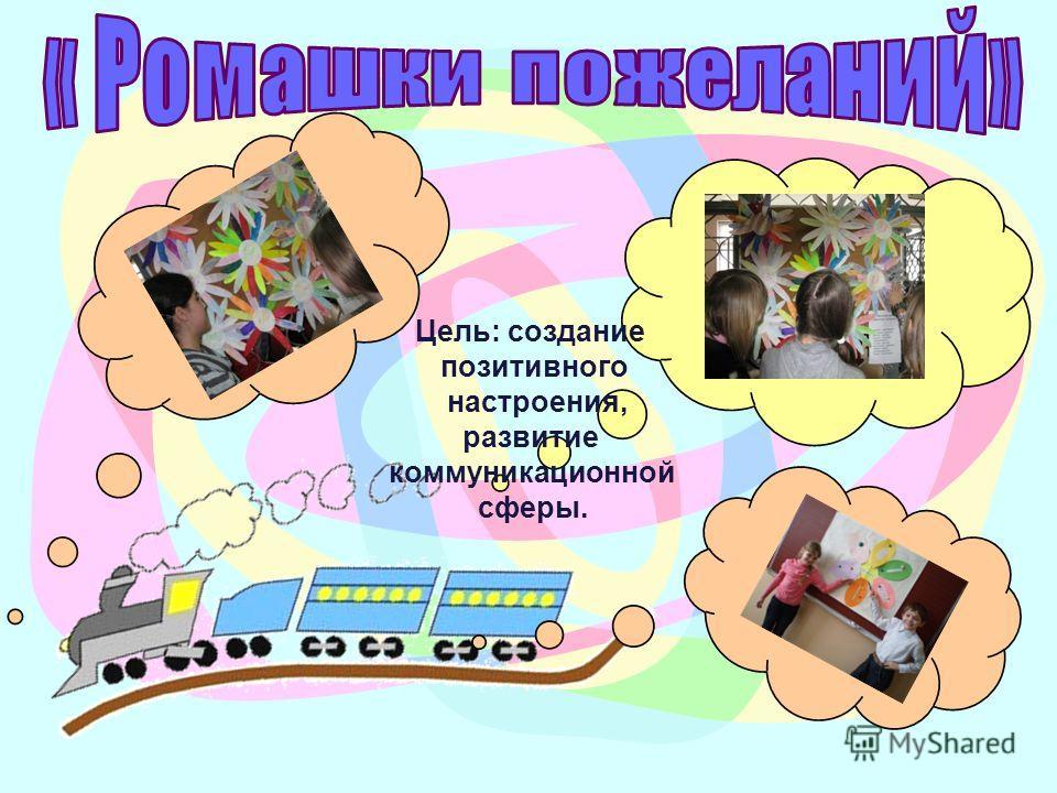 Цель: создание позитивного настроения, развитие коммуникационной сферы.