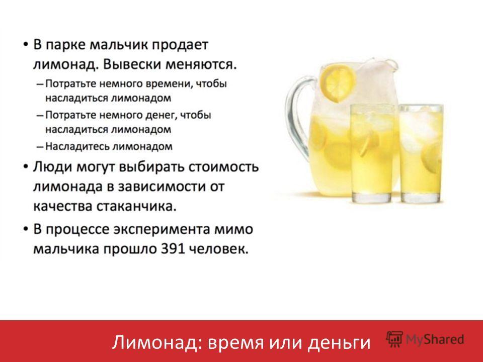 Лимонад: время или деньги