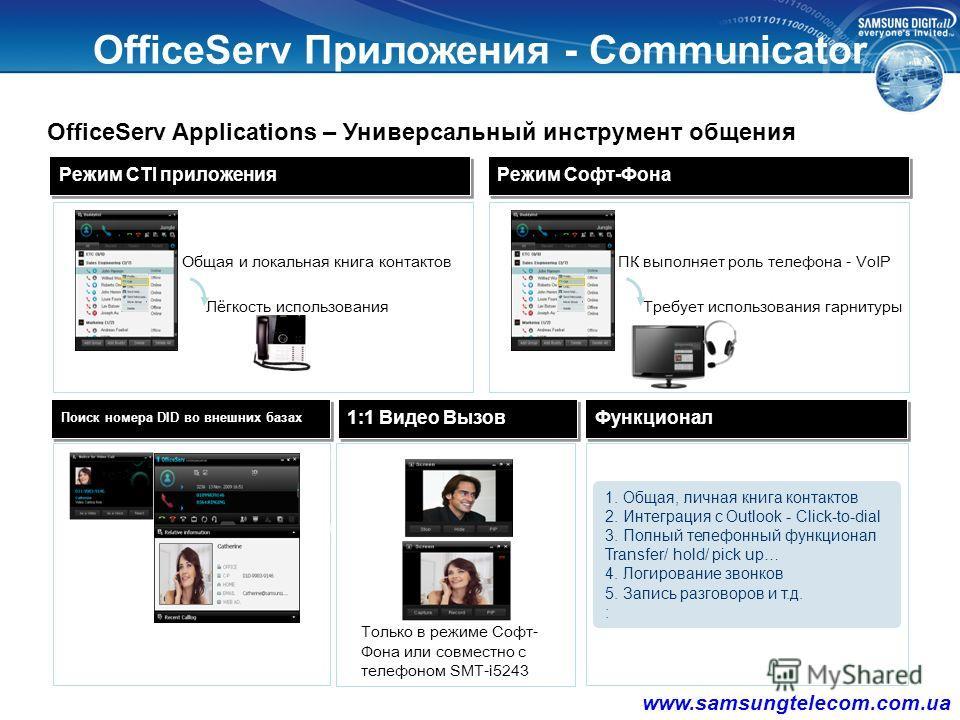ПриложенияПриложения V 4.60 www.samsungtelecom.com.ua