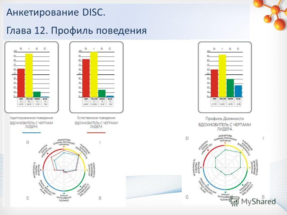 Анкетирование DISC. Глава 12. Профиль поведения