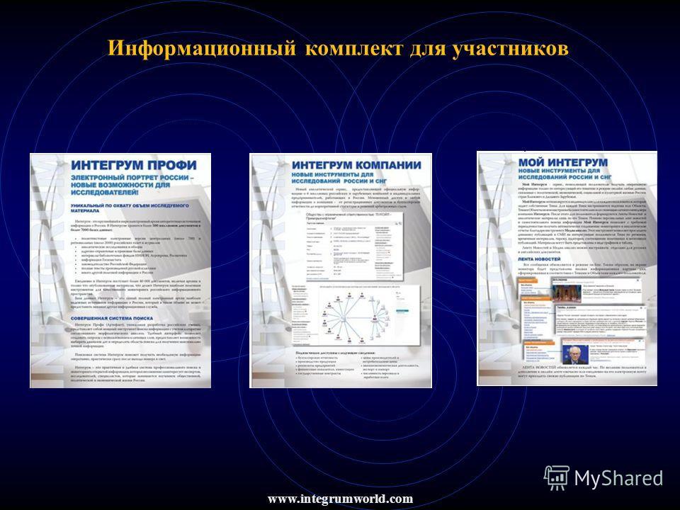 Информационный комплект для участников www.integrumworld.com
