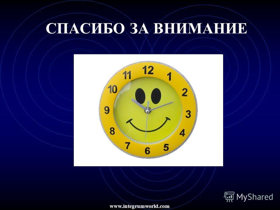 СПАСИБО ЗА ВНИМАНИЕ www.integrumworld.com