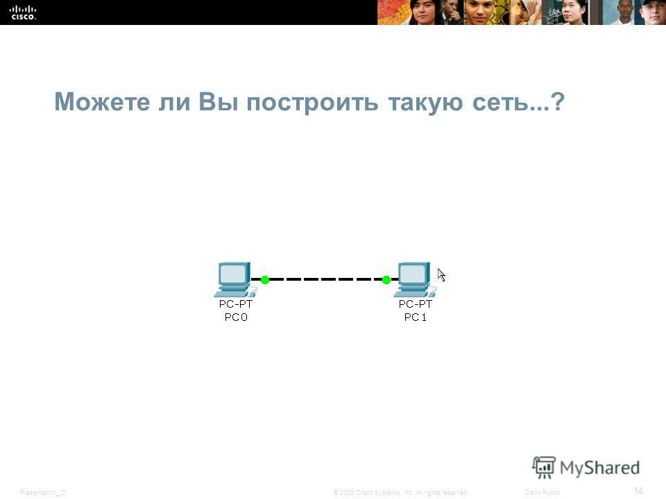 Presentation_ID 14 © 2008 Cisco Systems, Inc. All rights reserved.Cisco Public Можете ли Вы построить такую сеть...?