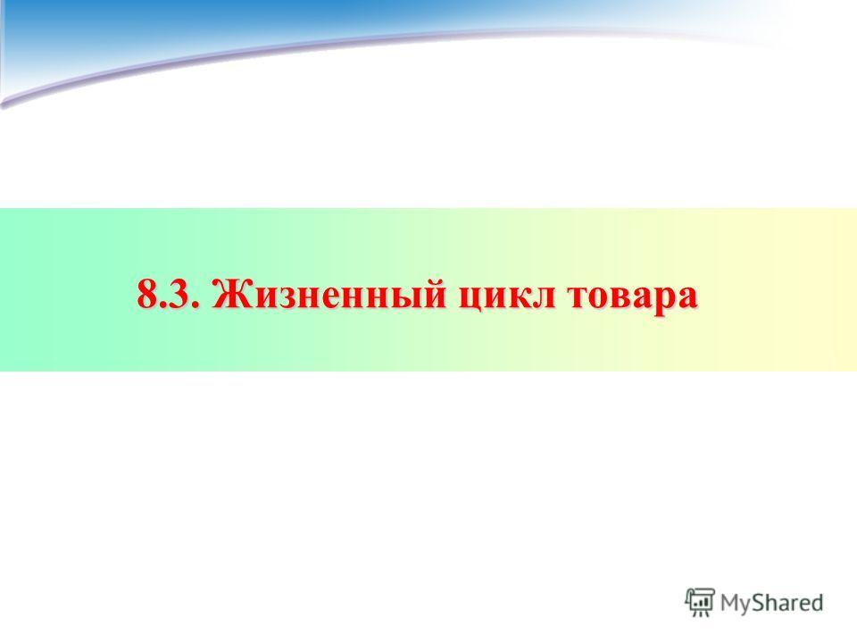 8.3. Жизненный цикл товара