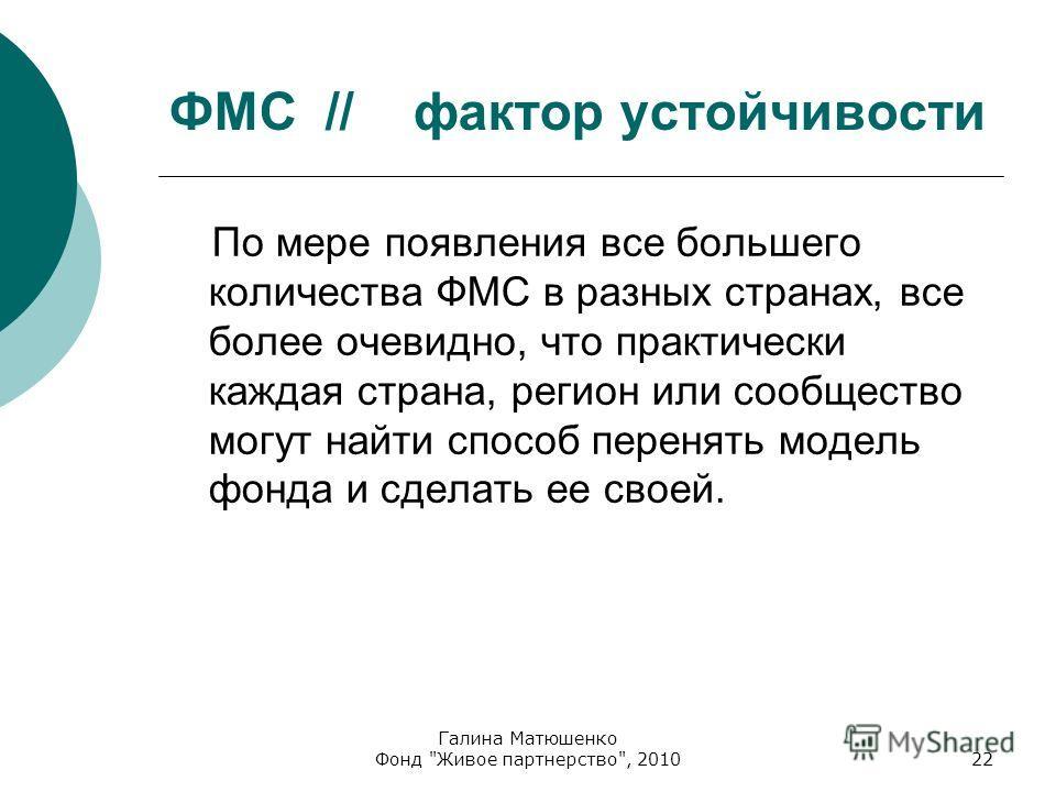 Галина Матюшенко Фонд
