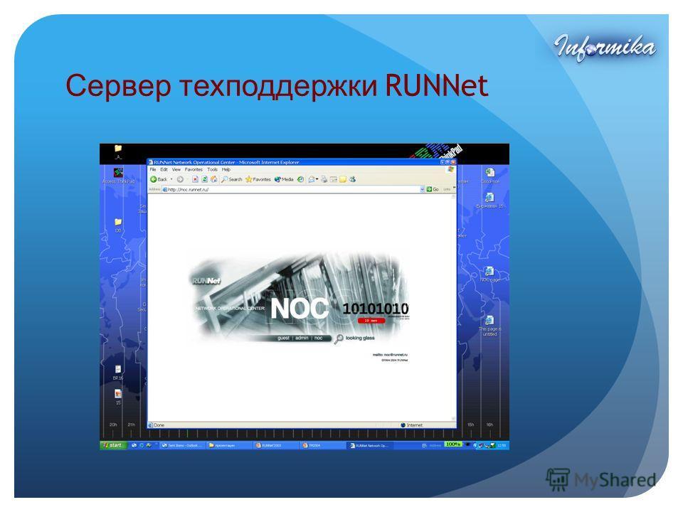 Сервер техподдержки RUNNet
