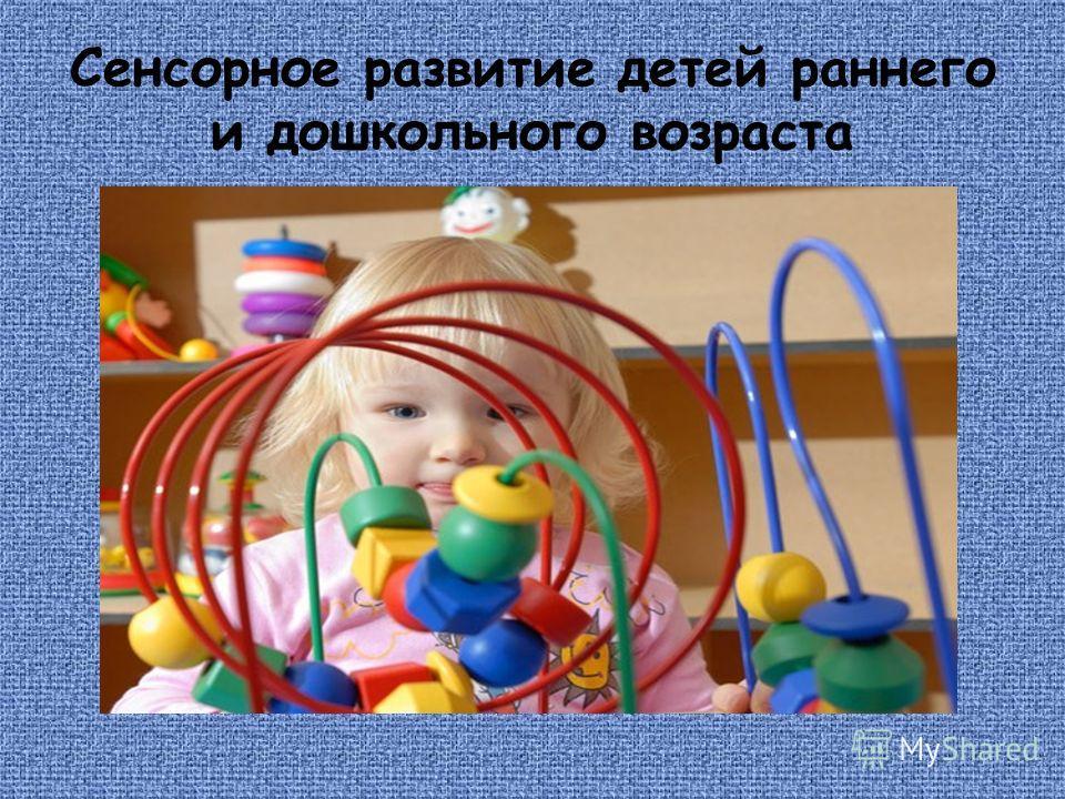 Сенсорное развитие детей раннего и дошкольного возраста
