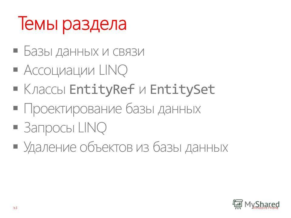 Windows Phone Темы раздела 53
