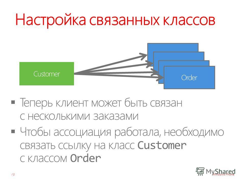 Windows Phone Настройка связанных классов 73