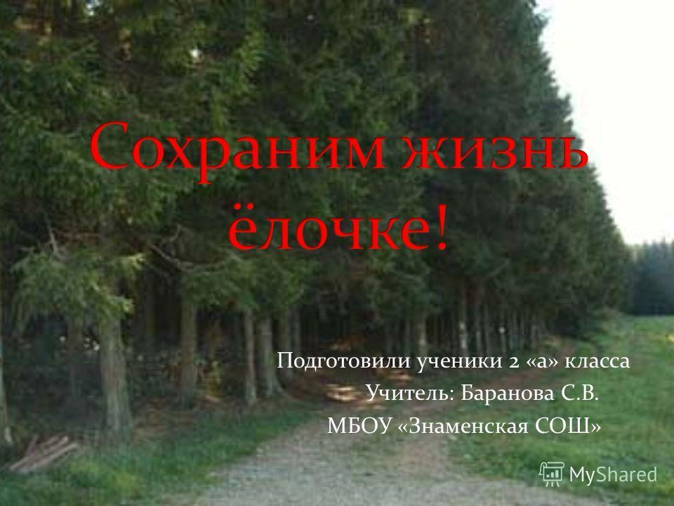 Подготовили ученики 2 «а» класса Учитель: Баранова С.В. МБОУ «Знаменская СОШ»