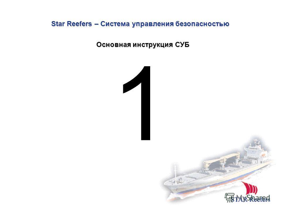 Star Reefers – Система управления безопасностью 1 Основная инструкция СУБ