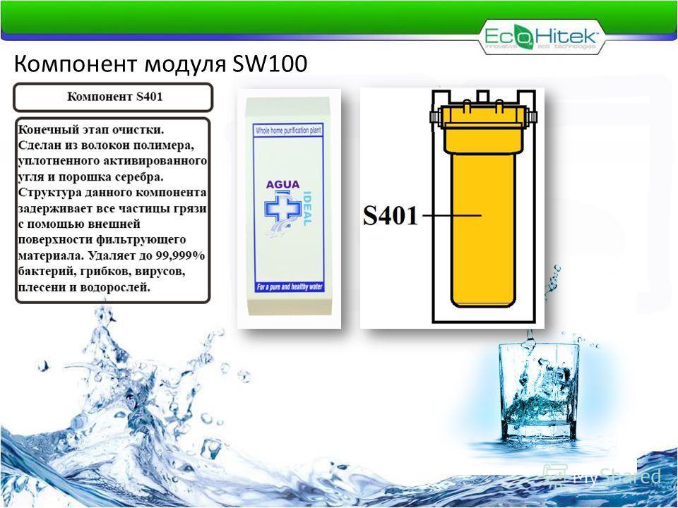Компонент модуля SW100