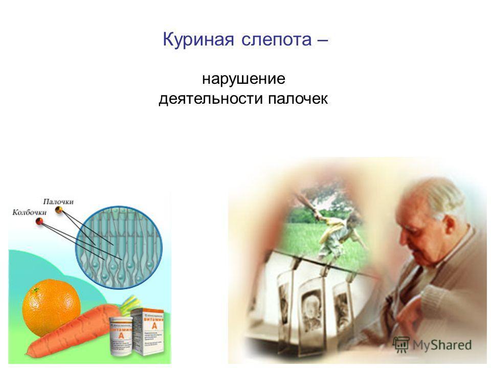 Куриная слепота – нарушение деятельности палочек