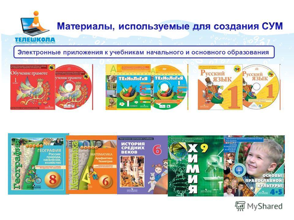 Электронные приложения к учебникам начального и основного образования