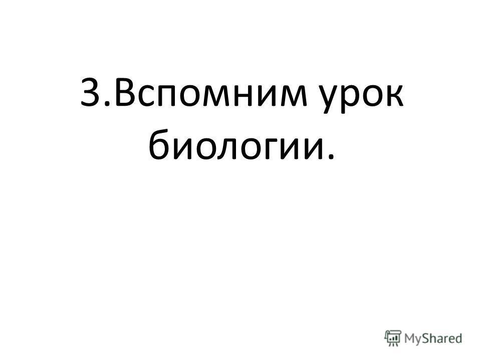 3.Вспомним урок биологии.