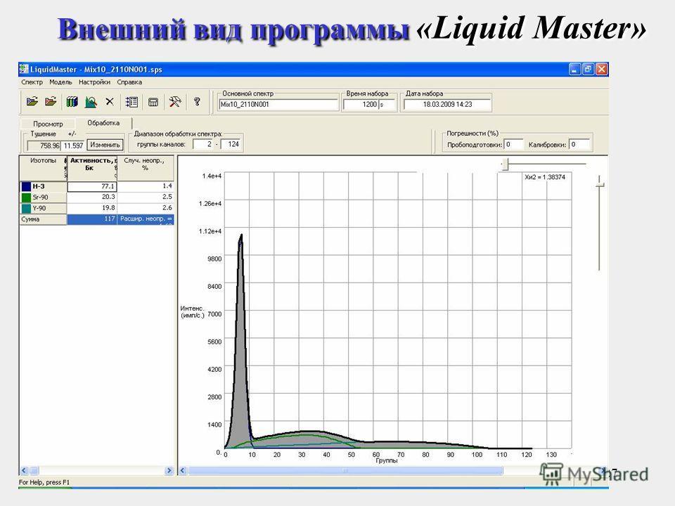 27 Внешний вид программы «Liquid Master»