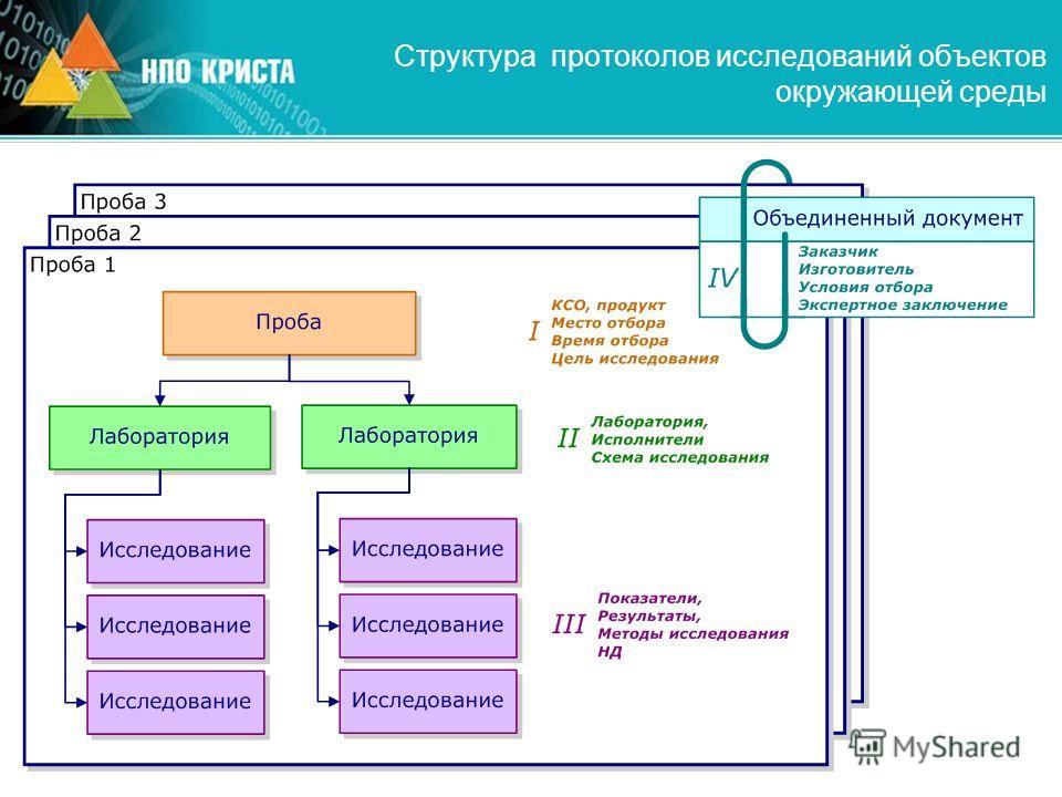 Структура протоколов исследований объектов окружающей среды