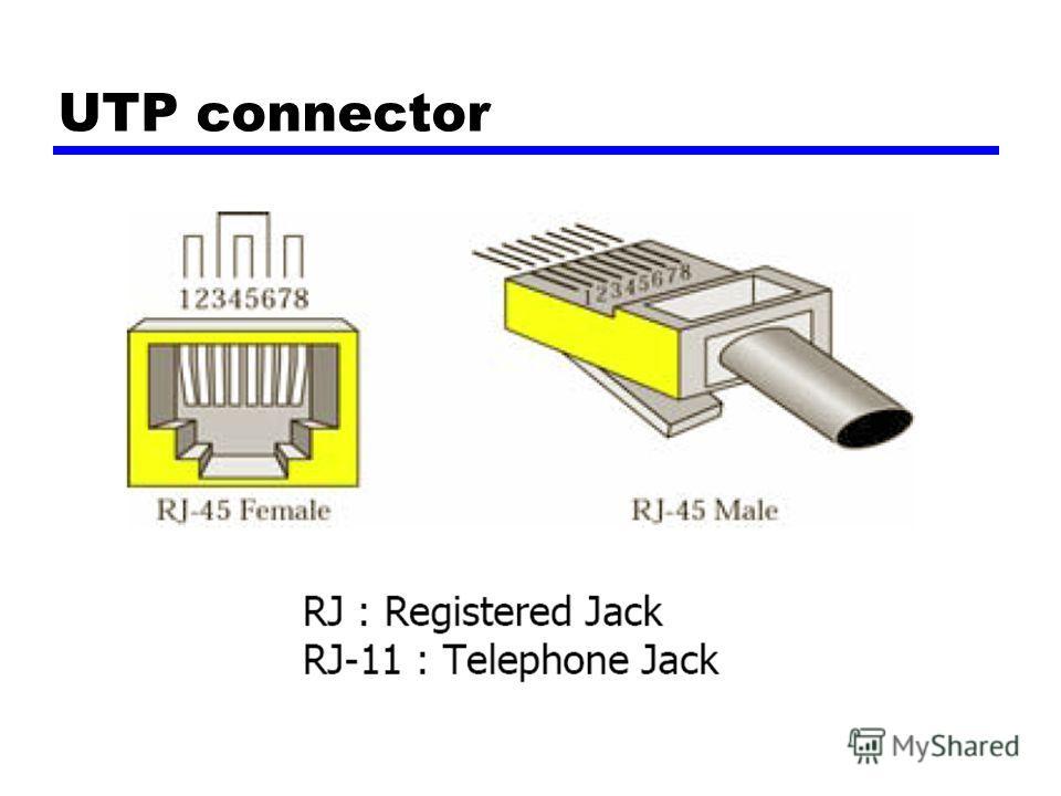 UTP connector