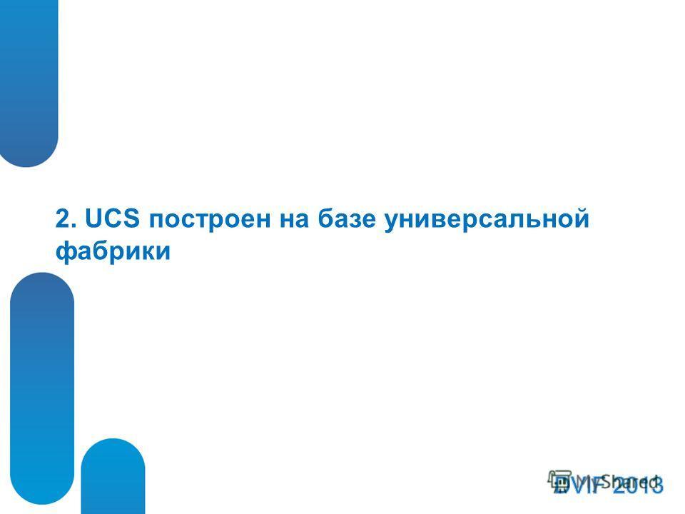 2. UCS построен на базе универсальной фабрики