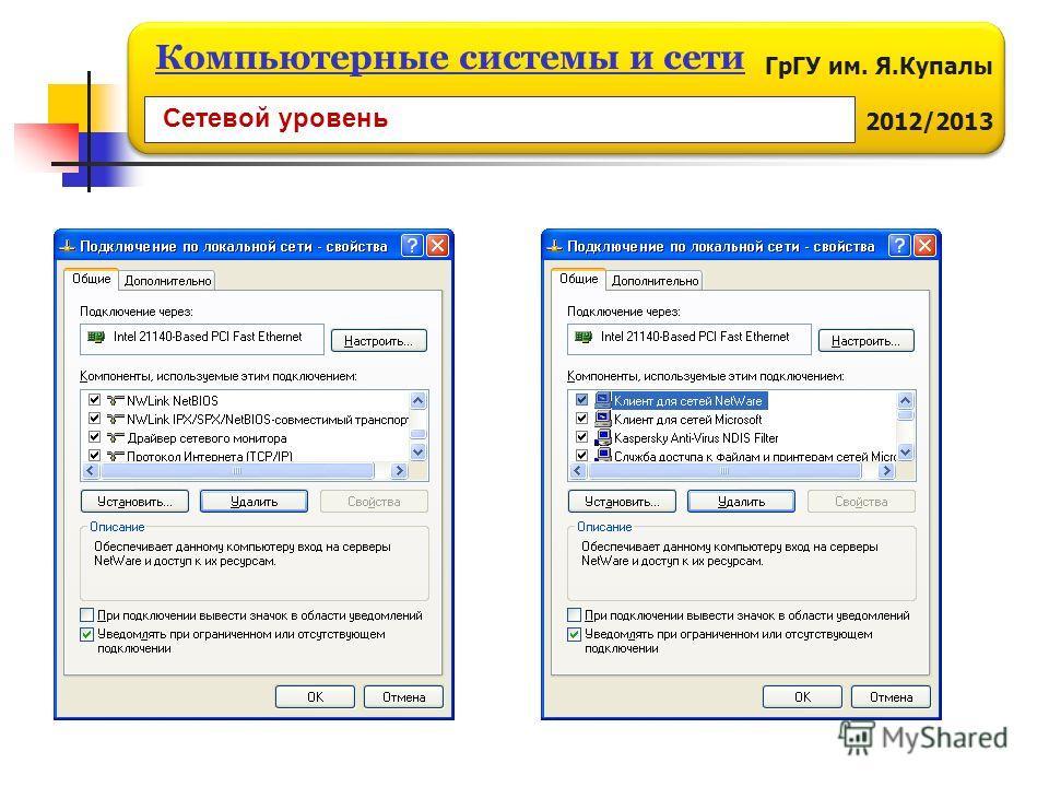 ГрГУ им. Я.Купалы 2012/2013 Компьютерные системы и сети Сетевой уровень