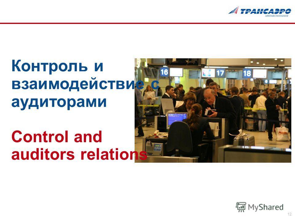 12 Контроль и взаимодействие с аудиторами Control and auditors relations