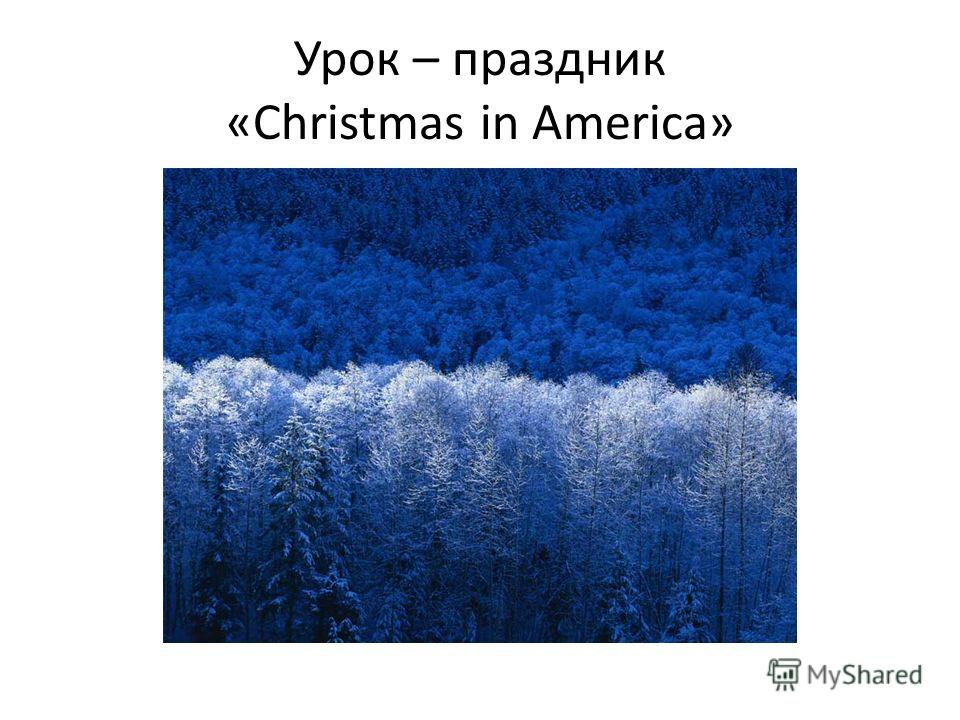 Урок – праздник «Christmas in America»